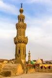 贵族AlMaridani清真寺的尖塔在开罗 免版税库存照片