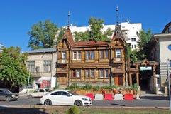 贵族Yu的房子 我 在伏龙芝城街道上的Poplavsky, 171 翼果 免版税库存照片