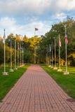 旗子华盛顿横穿 免版税库存图片