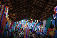 旗子和党装饰junina 免版税库存照片