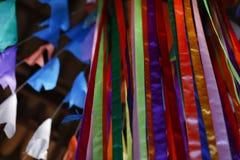旗子和党装饰junina 免版税库存图片