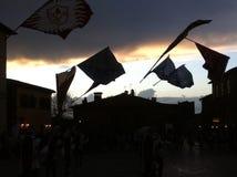 旗子在天空中 库存照片