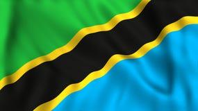 旗子坦桑尼亚挥动的标志国家 皇族释放例证