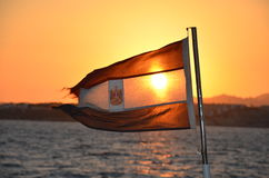 旗子埃及 免版税图库摄影
