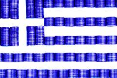旗子希腊 免版税图库摄影