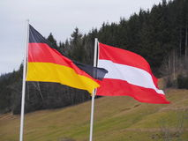 旗子德国户外奥地利 免版税库存图片