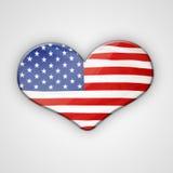 旗子心脏 库存照片