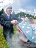 旗子灼烧的仪式 免版税库存图片