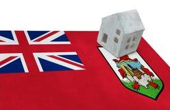 旗子的小屋-百慕大 库存照片