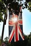 旗子英国国旗阳光 图库摄影