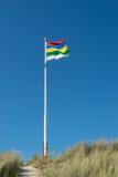 旗子荷兰人wadden海岛泰尔斯海灵岛 免版税图库摄影