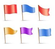 旗子,套多有色的别针 免版税库存图片