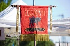 旗子VII军队罗马克劳迪亚  库存照片