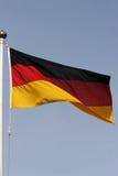 旗杆德语 免版税库存照片