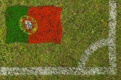 旗标橄榄球 库存图片