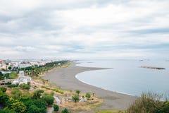 旗津区海滩在高雄,台湾 免版税库存图片