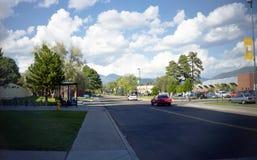 旗竿, AZ,美国,大约1999年-东北林业大学校园 库存照片