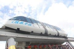 无人天线观光的火车在深圳 免版税库存图片