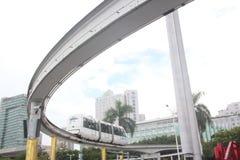 无人天线观光的火车在深圳 免版税库存照片