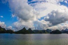 无人居住的海岛在南海 库存照片