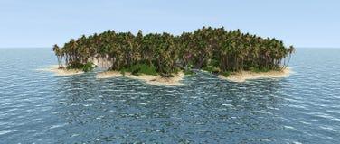 无人居住的海岛 向量例证