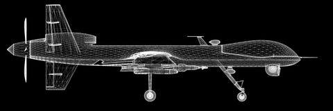 无人空中车(UAV) 免版税库存照片