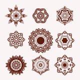 无刺指甲花纹身花刺设计元素Mehndi花 库存图片