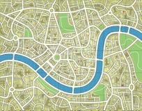无名城市的映射 免版税库存图片