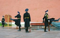 无名战士坟茔在莫斯科 库存照片
