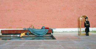 无名战士坟茔在莫斯科 图库摄影