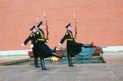 无名战士坟茔在莫斯科 免版税库存照片