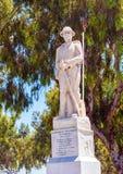 无名战士的雕象在Eleftherias Squar的中心 图库摄影