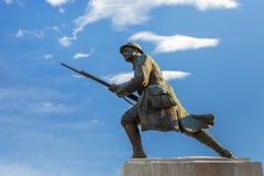 无名战士雕象,布拉索夫,罗马尼亚 库存照片