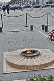 无名战士,巴黎火焰  免版税库存图片