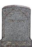 无名的老墓碑 免版税库存图片