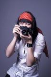 无固定职业的摄影师 图库摄影