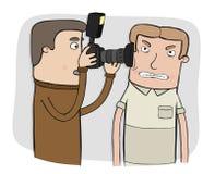 无固定职业的摄影师 向量例证