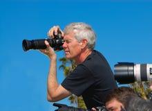 无固定职业的摄影师 库存图片