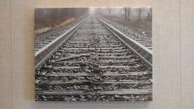 无处铁路 库存照片