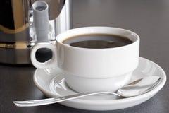无奶咖啡服务 库存照片