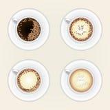 无奶咖啡杯子顶视图  皇族释放例证