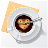 无奶咖啡杯子 免版税库存图片
