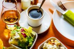 无奶咖啡用在小部分的集合开胃菜,健康和 库存照片