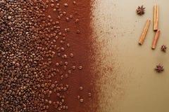 无奶咖啡豆 免版税图库摄影