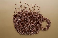 无奶咖啡豆 免版税库存图片