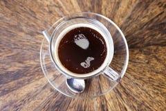 无奶咖啡顶上的看法  库存图片