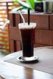 无奶咖啡,冷 库存图片