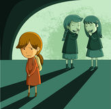 无家可归女孩 免版税库存图片