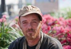 无家可归的人年轻人 库存照片