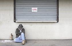 无家可归的人 库存图片